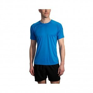 BROOKS TEE-SHIRT MANCHES COURTES STEALTH HOMME | AZUL