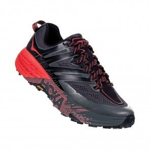 HOKA SPEEDGOAT 3 Femme | Dark Shadow / Poppy Red